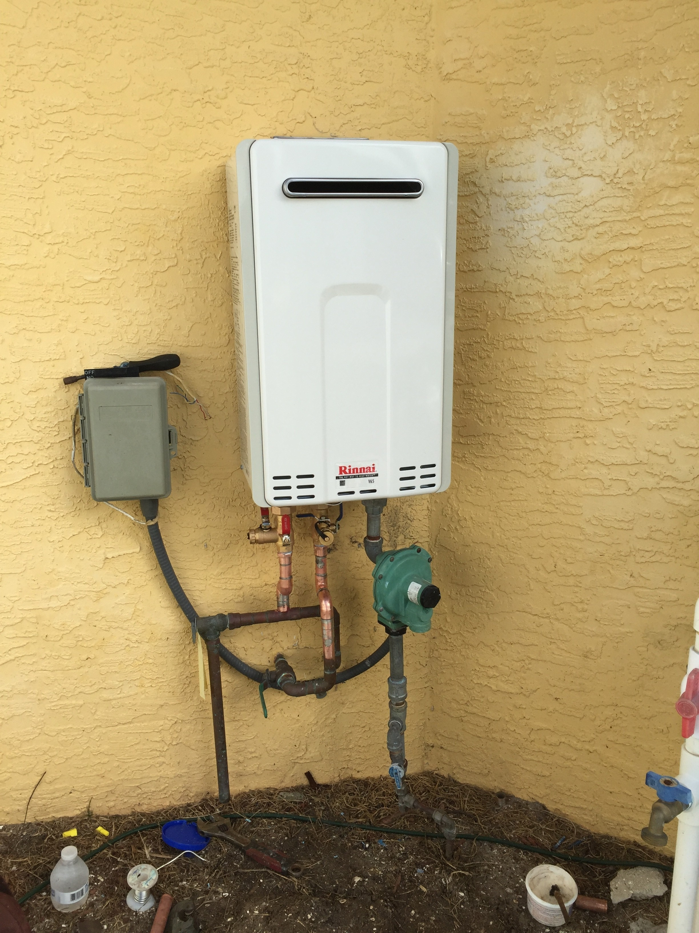 Outside Tankless After